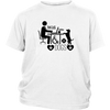 teelaunch T-shirt District Youth Shirt / White / XS Coffee Wifi and Dogs