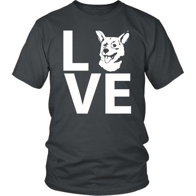 teelaunch T-shirt Gildan Unisex Shirt / Charcoal / S Corgi Love T Shirt
