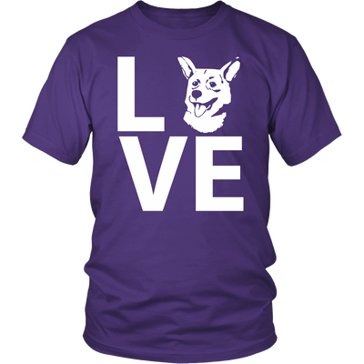 teelaunch T-shirt Gildan Unisex Shirt / Purple / S Corgi Love T Shirt