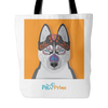 teelaunch Tote Bags Husky Colorful Tote