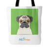 teelaunch Tote Bags Pug Colorful Tote