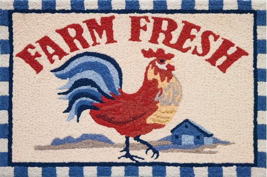 Jellybean Rug Farm Fresh Rooster-Jellybean-The Bugs Ear