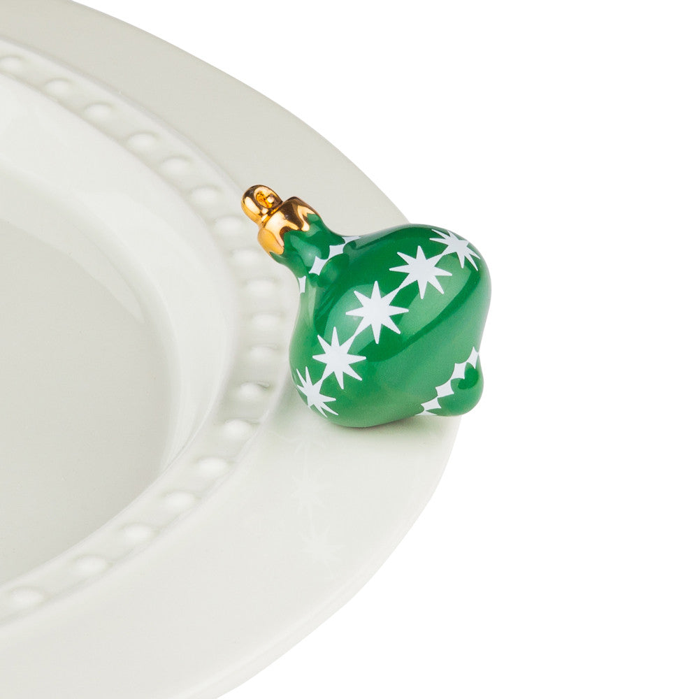 Nora Fleming Mini Trim The Tree Green Ornament-Nora Fleming-The Bugs Ear
