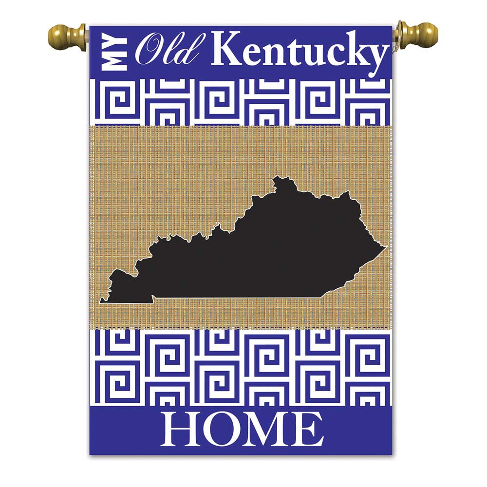 Kentucky Burlap Garden Flag-Magnolia Lane-The Bugs Ear