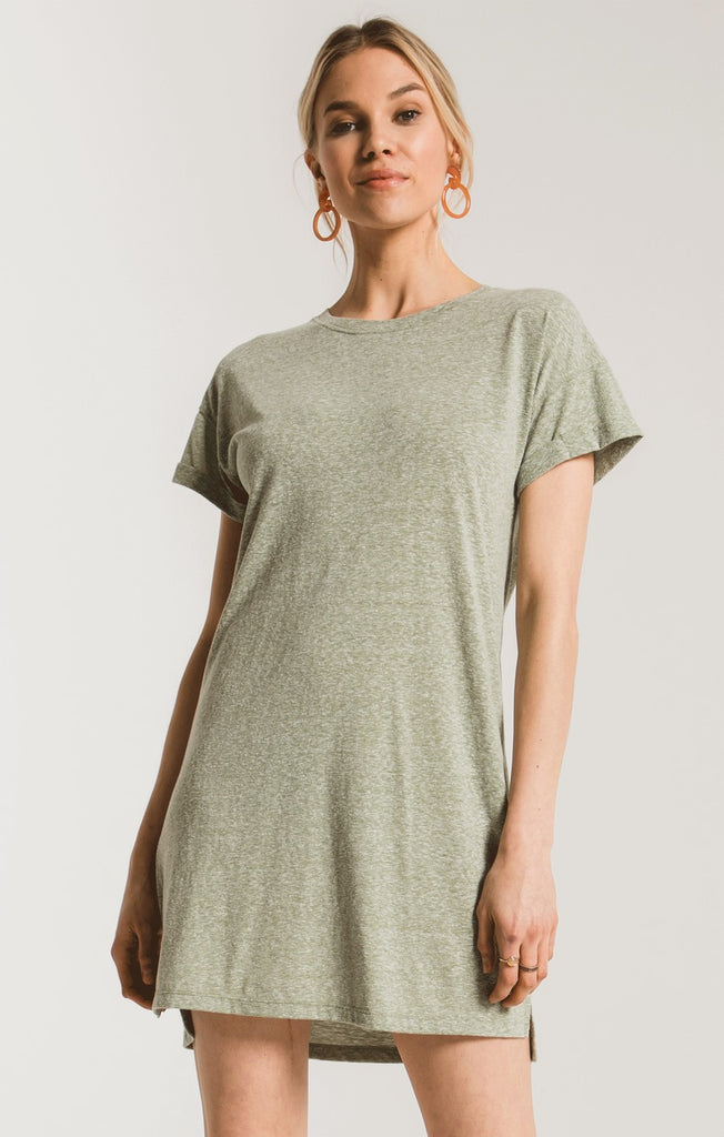 The Triblend T-shirt Dress Green-Z Supply-The Bugs Ear