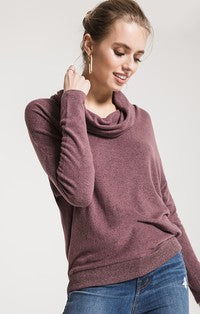 Z Supply Marled Cowl Neck Sweater-Z Supply-The Bugs Ear
