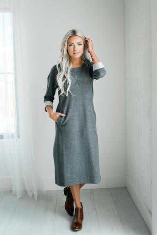 Ampersand Ave Sweatshirt Dress-Ampersand Ave-The Bugs Ear
