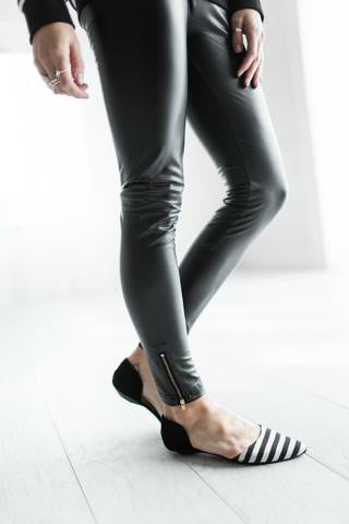 Ampersand Ave Faux Leather Zip Leggings-Ampersand Ave-The Bugs Ear