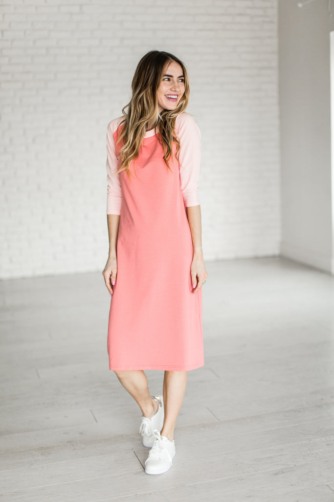 Ampersand Ave Pink Baseball Dress-Ampersand Ave-The Bugs Ear