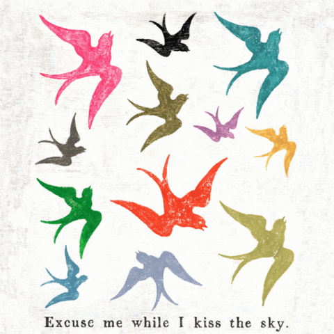 Small Print - Excuse Me While I Kiss The Sky - 12x12-Sugarboo Designs-The Bugs Ear