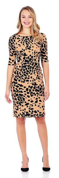 Jude Connally Monique Dress in Classic Leopard Camel-Jude Connally-The Bugs Ear
