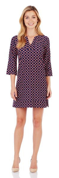 Jude Connally Megan Dress in Circle Geo Midnight-Jude Connally-The Bugs Ear