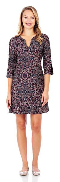 Jude Connally Megan Dress in Timeless Paisley Black-Jude Connally-The Bugs Ear