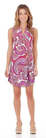 Jude Connally Allison Dress in Paradise Paisley Fuchsia-Jude Connally-The Bugs Ear