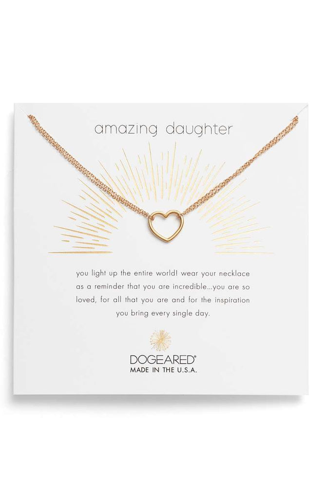 Dogeared Amazing Daughter Open Heart in Gold-Dogeared-The Bugs Ear