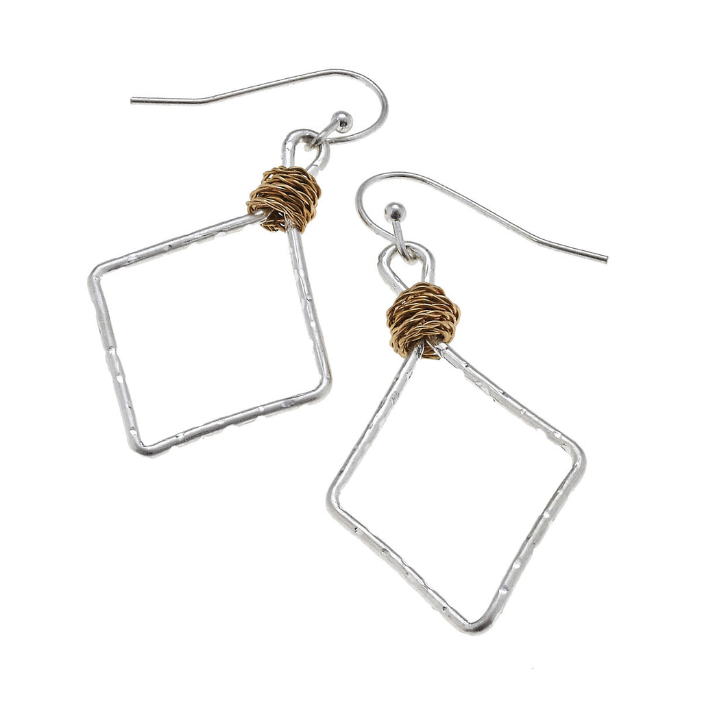 Canvas Artisan Wire Diamond Earrings-Canvas Jewelry-The Bugs Ear