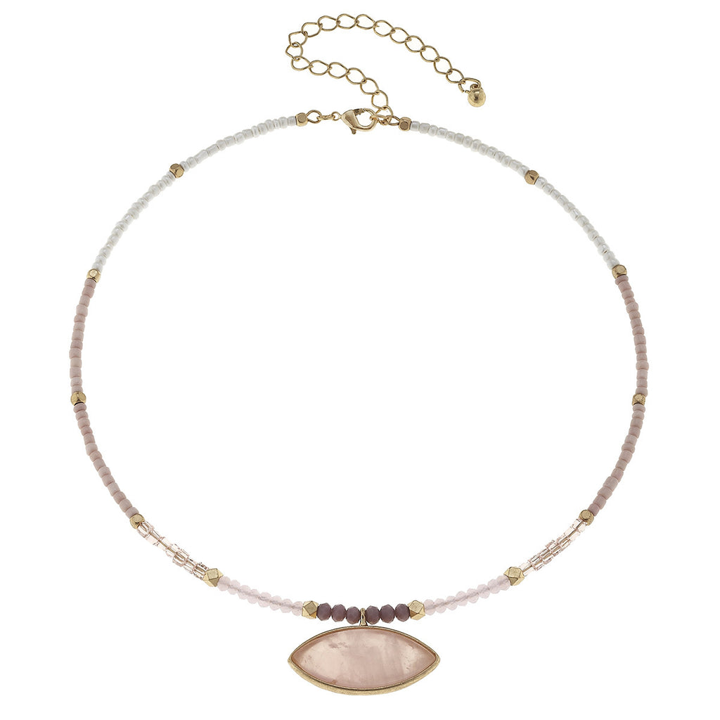 CV Light Pink Gemstone Memory Choker-Canvas Jewelry-The Bugs Ear