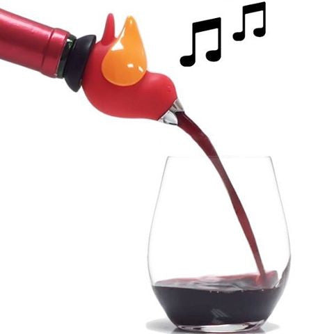 ChirpyTop Wine Pourer Red/Orange-GurglePot-The Bugs Ear