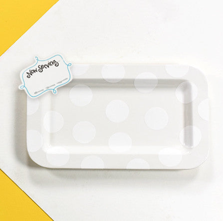 Happy Everything Entertaining Platter White Dot-Coton Colors-The Bugs Ear