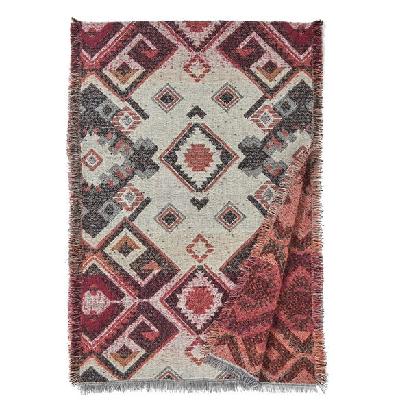 Vermejo Woven Print Blanket Wrap in Berry Mix-Coco and Carmen-The Bugs Ear