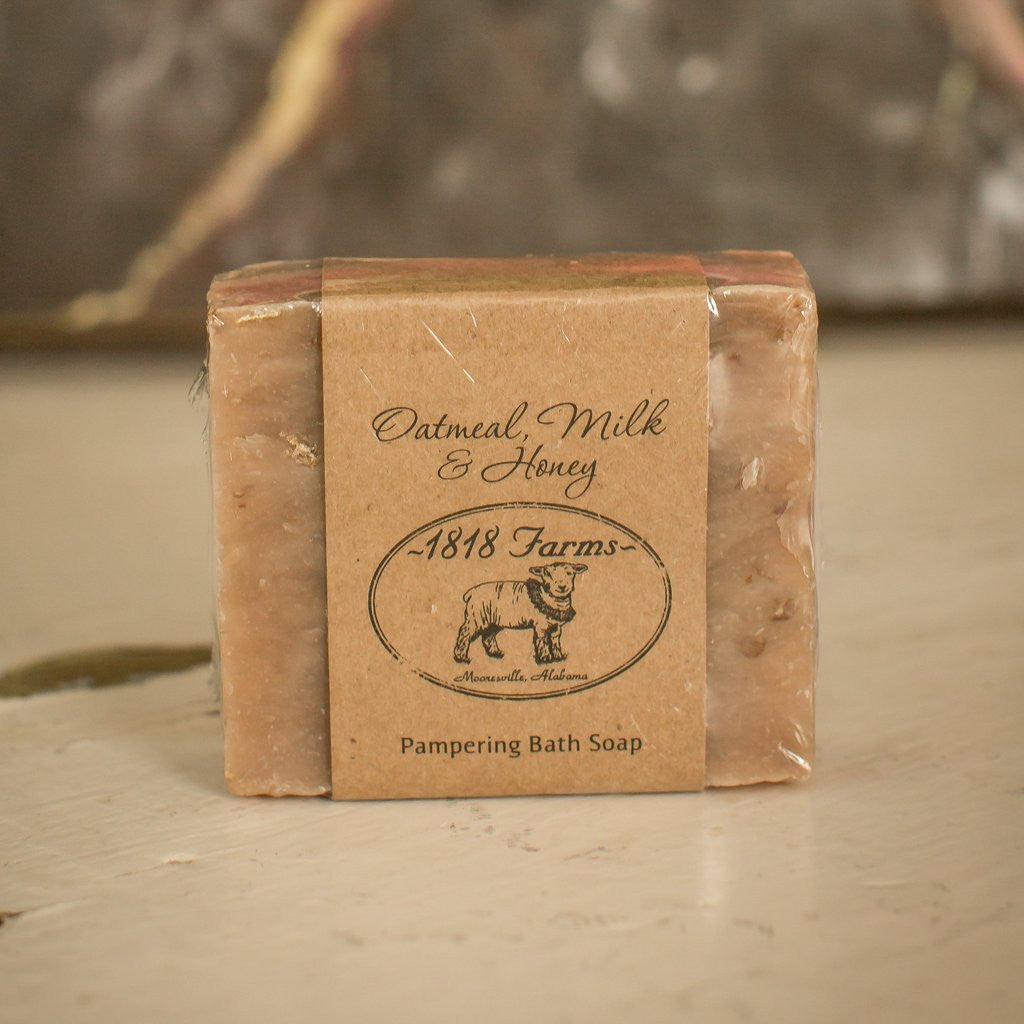Oatmeal Milk and Honey Hand Crafted Soap-1818 Farms-The Bugs Ear