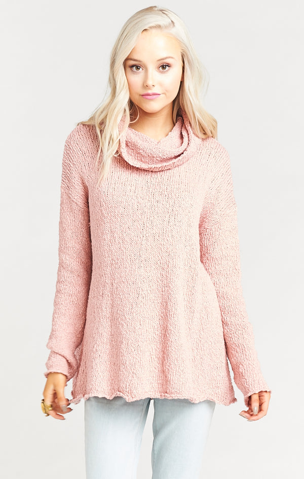 Show Me Your Mumu Overtop Sweater Dusty Blush Knit-Show Me Your Mumu-The Bugs Ear