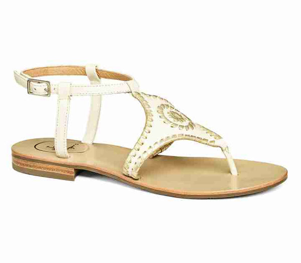 Jack Roger Maci Sandal Bone Gold-Jack Rogers-The Bugs Ear