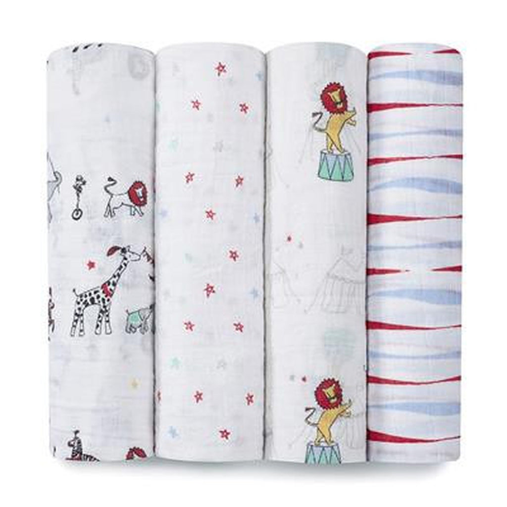 Aden and Anais Swaddle 4 pack Set Vintage Circus-Aden + Anias-The Bugs Ear