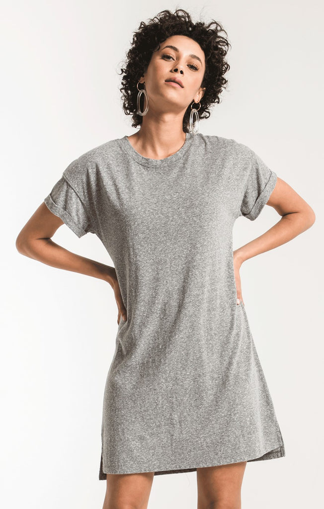 The Triblend T-shirt Dress Grey-Z Supply-The Bugs Ear