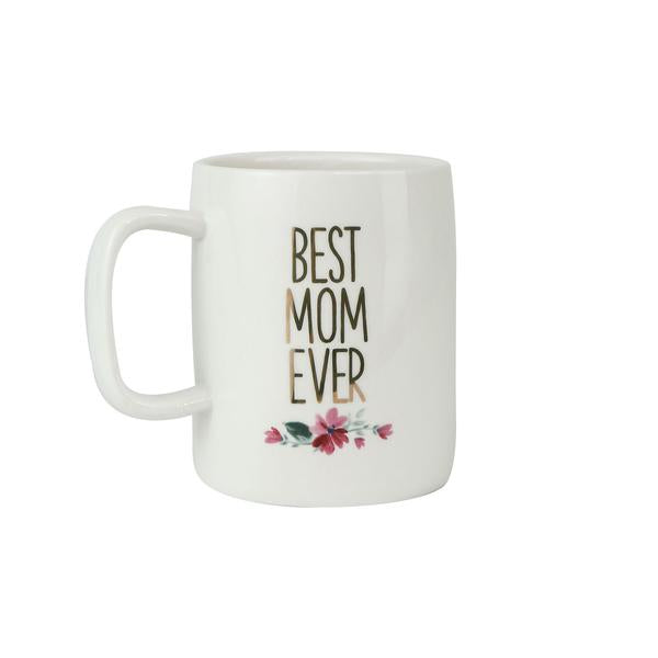 Ceramic Mug Organic Best Mom Ever-Mary Square-The Bugs Ear