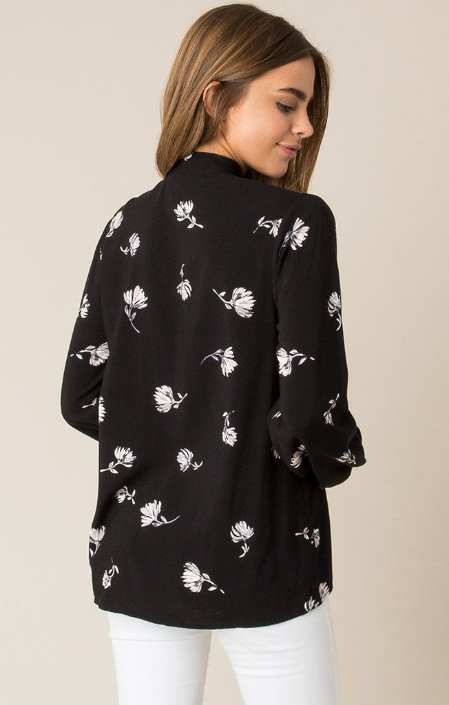 Blossom Tie Neck Floral Blouse-Others Follow-The Bugs Ear