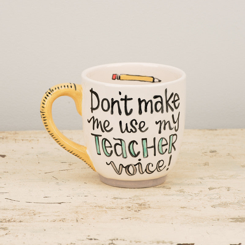 Glory Haus Don't Make Me Use My Teacher Voice Jumbo Mug-Glory Haus-The Bugs Ear