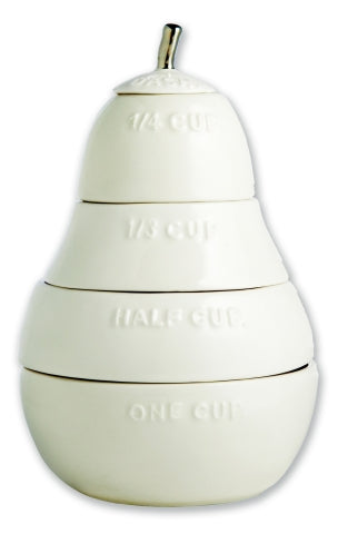 Rae Dunn White Pear Measuring Cups-Rae Dunn-The Bugs Ear