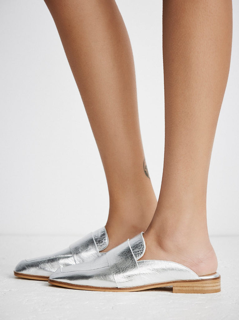 Free People Silver At Ease Loafer-Free People-The Bugs Ear