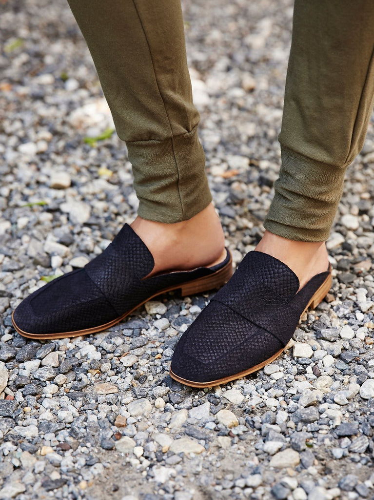 Free People Navy At Ease Loafer-Free People-The Bugs Ear