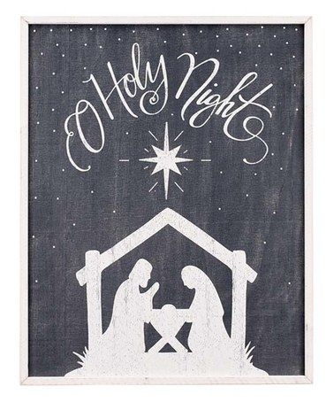 Glory Haus Oh Holy Night Nativity Board-Glory Haus-The Bugs Ear