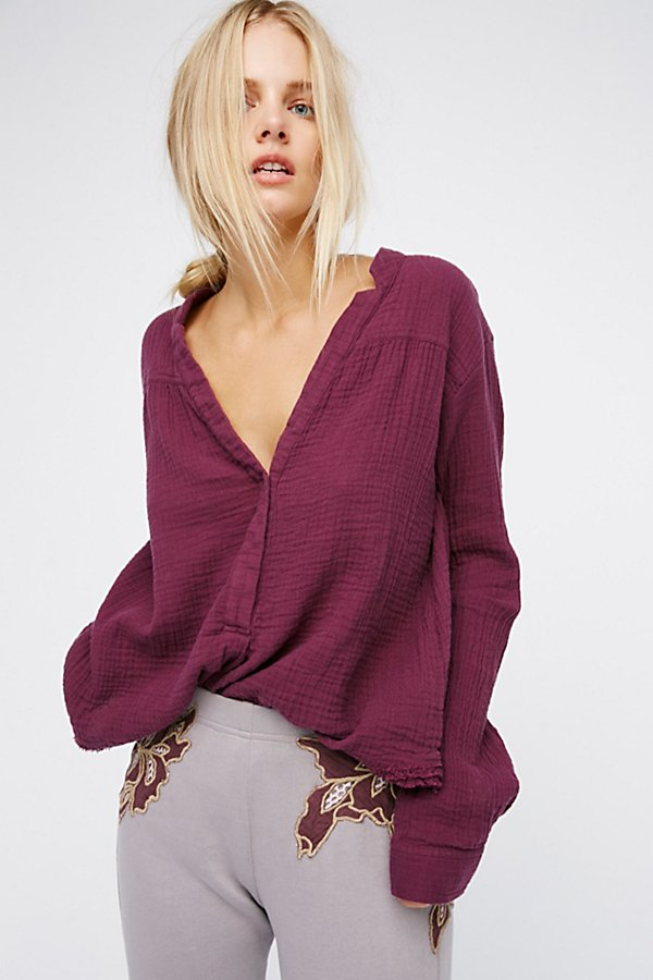 Free People Changing Horizons Pullover in Plum Purple-Free People-The Bugs Ear