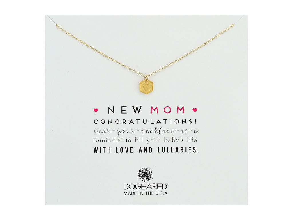 Dogeared New Mom Heart Token Charm Necklace Gold-Dogeared-The Bugs Ear