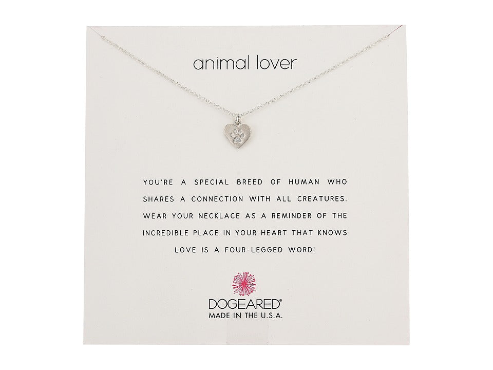Dogeared Animal Lover Necklace in Silver-Dogeared-The Bugs Ear