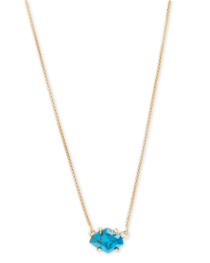 Kendra Scott Ethan Gold Pendant Necklace In Aqua Howlite-Kendra Scott-The Bugs Ear