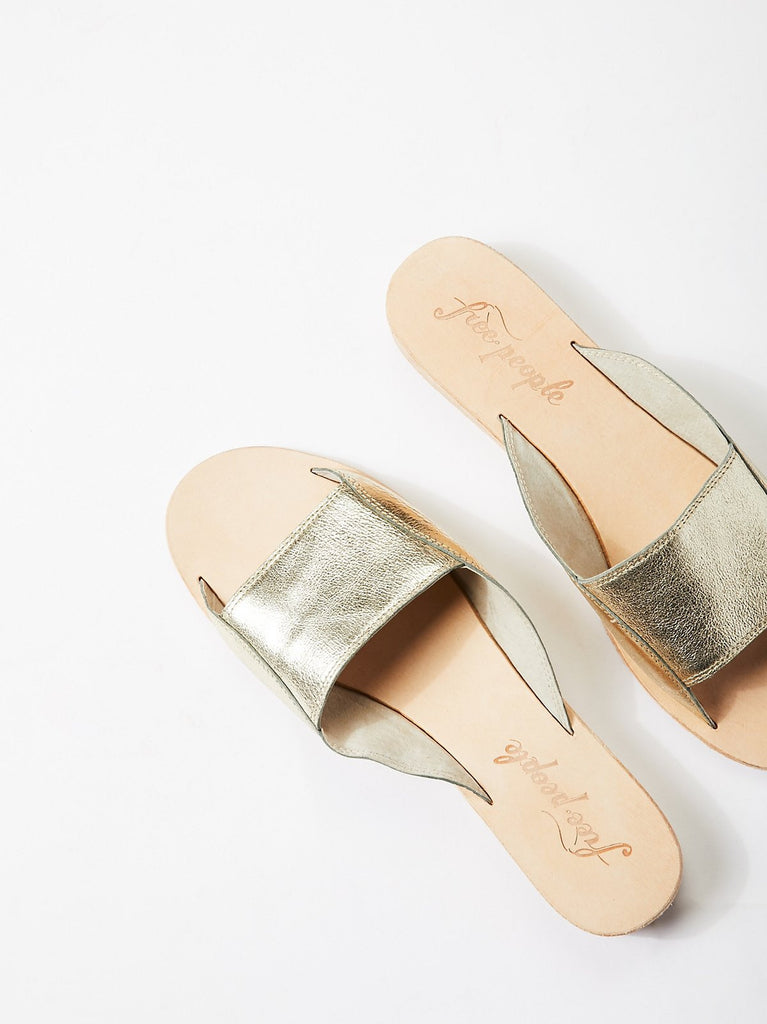 Free People Gold Daybird Mini Wedge Sandal-Free People-The Bugs Ear