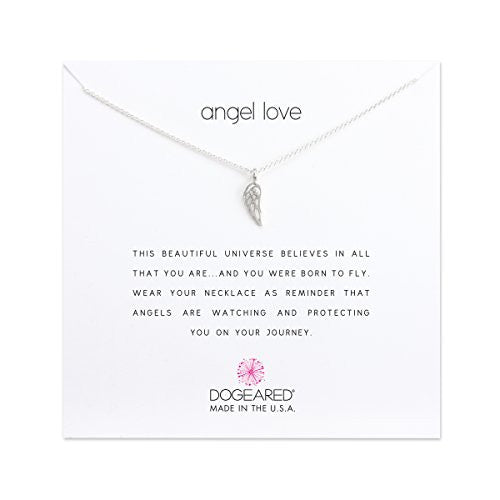 Dogeared Angel Love Open Angel Necklace Silver-Dogeared-The Bugs Ear
