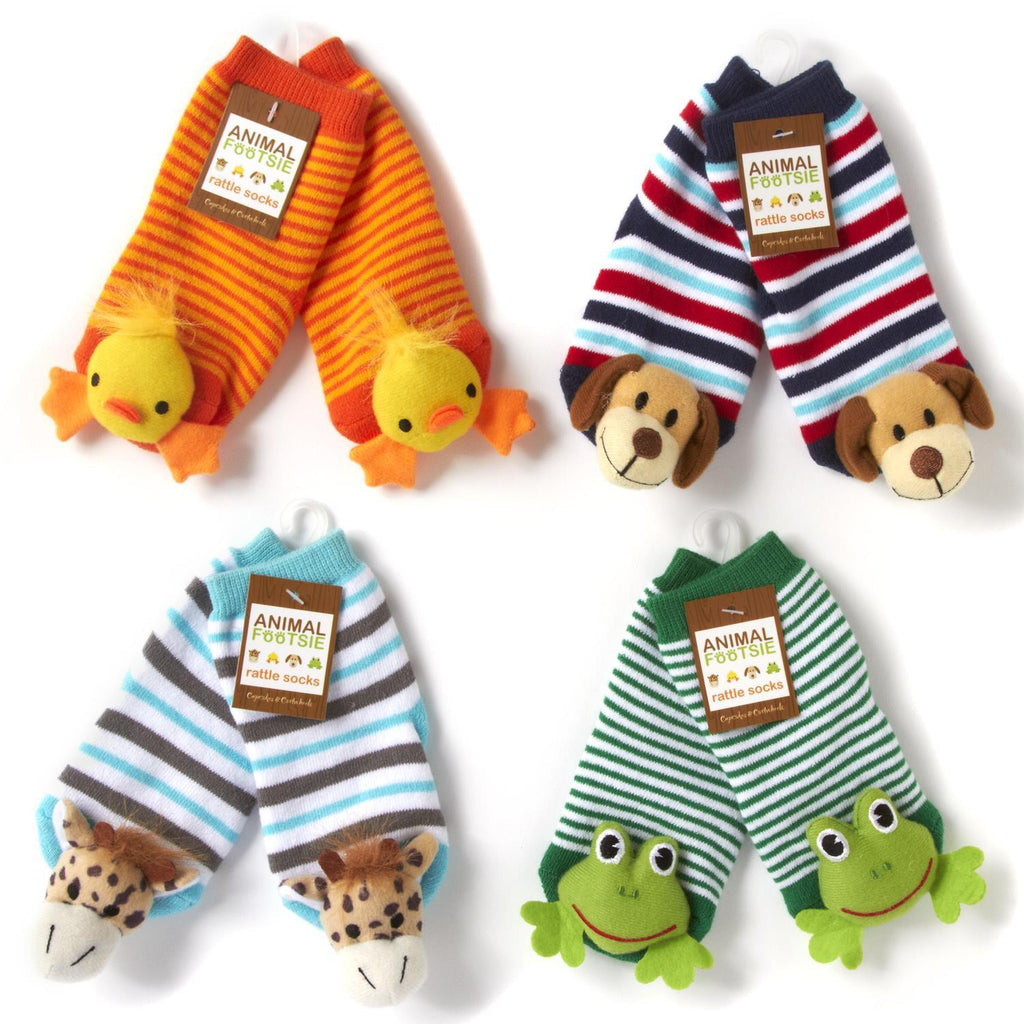 Animal Baby Rattle Socks-Two's Company-The Bugs Ear