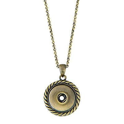 Ginger Snaps Antique Brass Rope Necklace-Ginger Snaps-The Bugs Ear