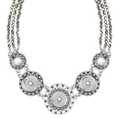 Ginger Snaps Facet Statement Necklace - Silver-Ginger Snaps-The Bugs Ear