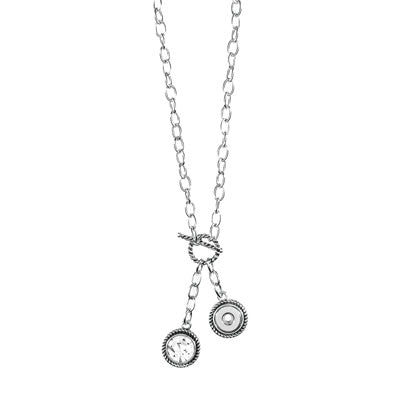 Ginger Snaps Petite Petite Toggle Front Necklace with Stone Charm-Ginger Snaps-The Bugs Ear