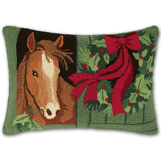 Christmas Chestnut Horse Hook Pillow-Peking Handicraft-The Bugs Ear