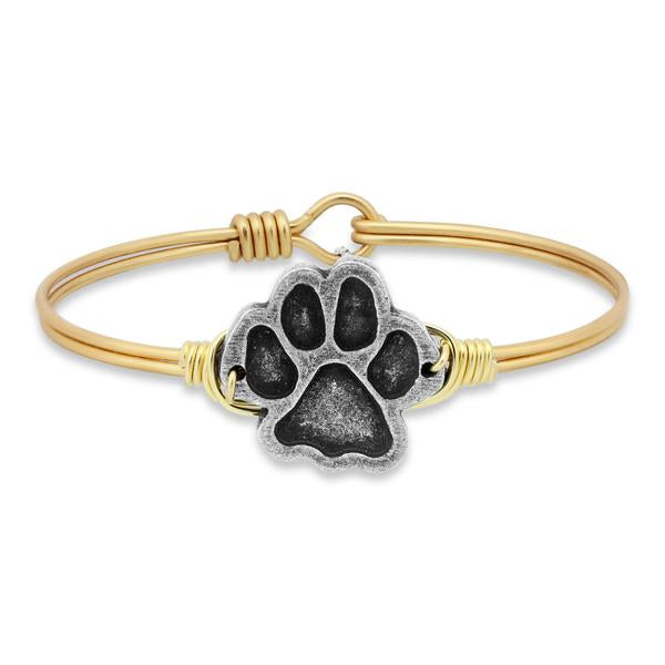 Luca and Danni Paw Print Brass-Luca + Danni-The Bugs Ear