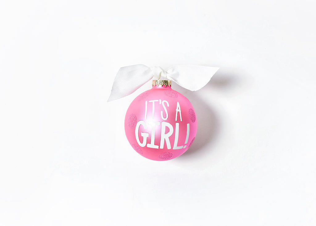 Coton Colors It's a Girl Dots Ornament-Coton Colors-The Bugs Ear
