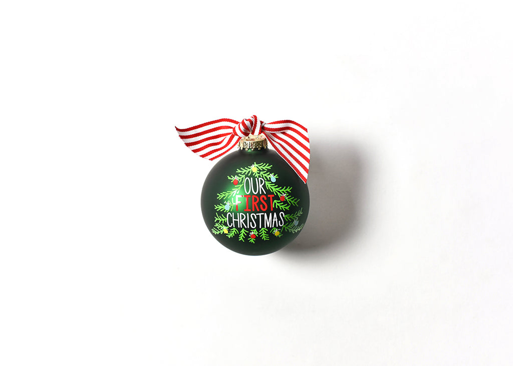 Coton Colors Our First Christmas Tree 100mm Glass Ornament-Coton Colors-The Bugs Ear